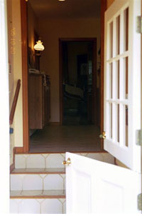 House – back door & interior steps. - Click to Enlarge, close window when done