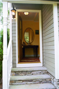 House � front door & porch - Click to Enlarge, close window when done