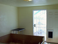 Whelping Room, view to Fenced Puppy Play - Click to Enlarge, close window when done