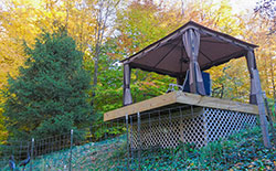 Gazebo from Lower Patio - Click to Enlarge, close window when done