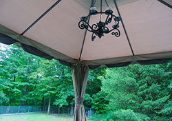 Gazebo View of Yard - Click to Enlarge, close window when done