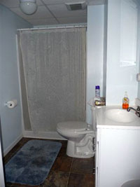 Bathroom in Basement - Click to Enlarge, close window when done